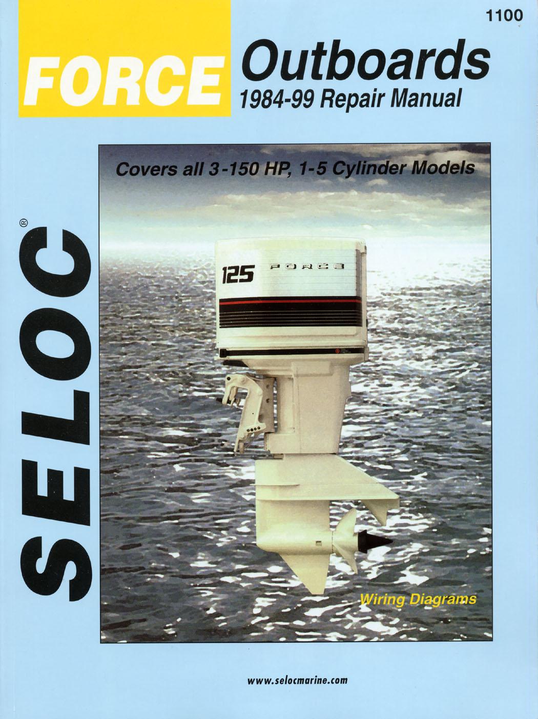 Seloc marine shop repair manual 1100 force 2 stroke for Outboard motor repair shop