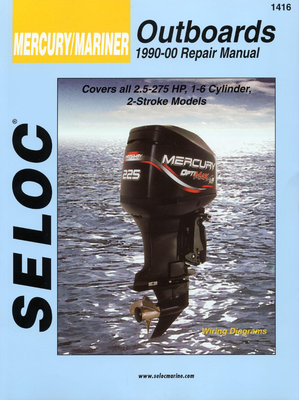 Seloc marine shop repair manual 1416 mercury mariner 2 for Outboard motor repair shop